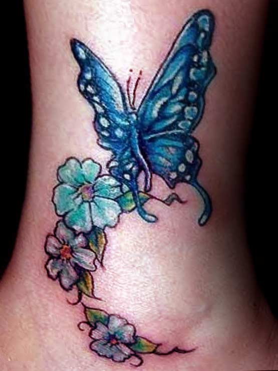 Butterfly foot tattoos designs