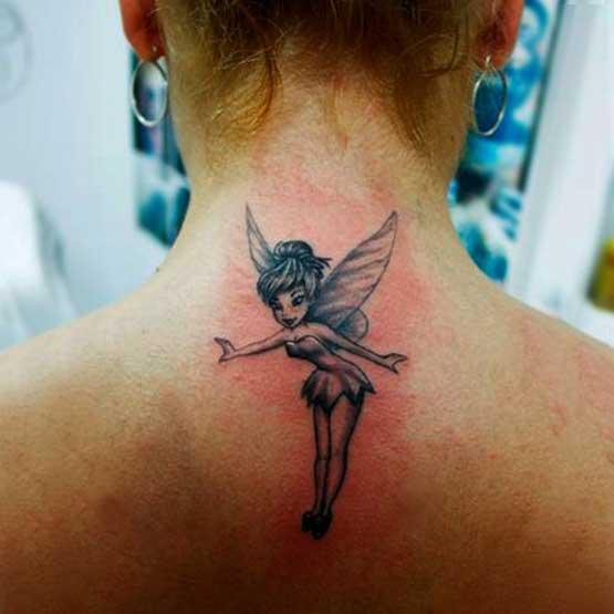 Girl Tattoos Upper Back