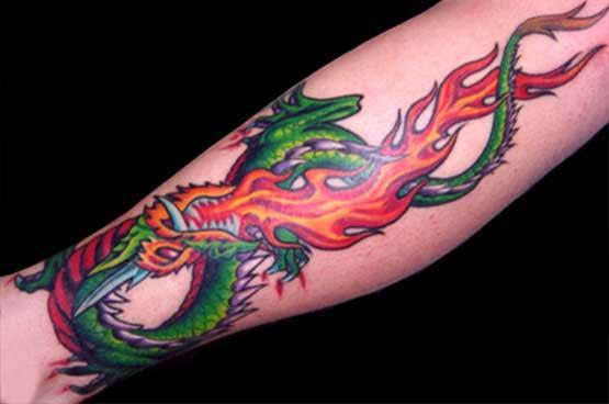 Leg with the dragon tattoo