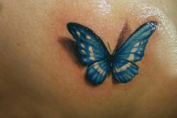 Blue butterfly tattoo designs