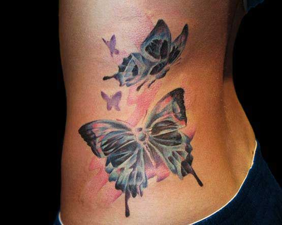 Butterfly tattoos for lower back