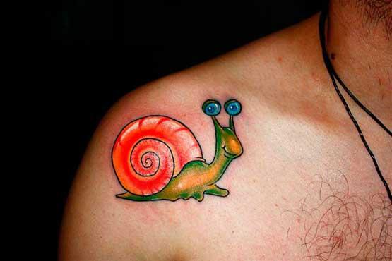 Cute snail tattoo styles