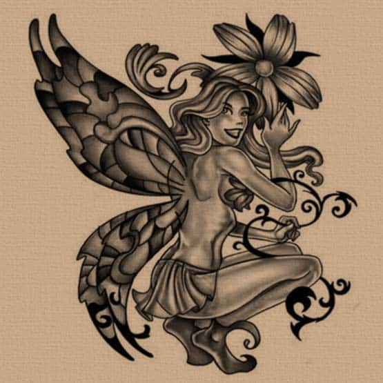 Free fairy tattoo designs