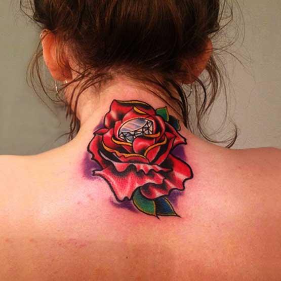 Girl Rose Tattoo Designs