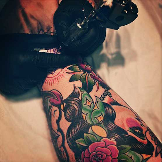 Great Work Of Tattoo Artist