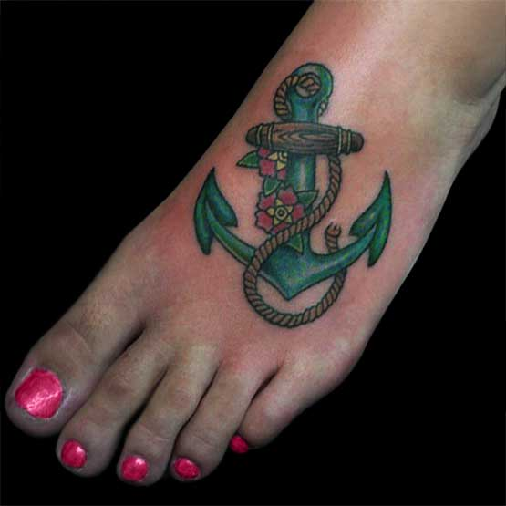 Anchor Designs For Foot Tattoos
