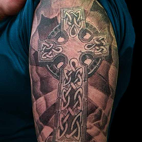 Horizontal Cross Tattoo Celtic Cross Tattoos Images