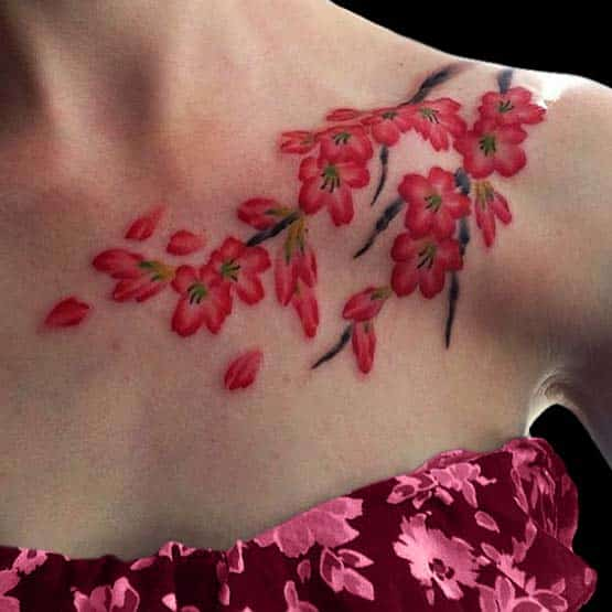 Cherry Blossom Girl Tattoo Design