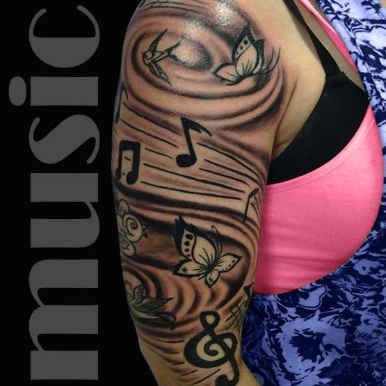Music Notes Tattoos Pics Music Notes Tattoo Designs