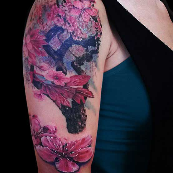 Meaning of cherry blossom tattoo designs for girls