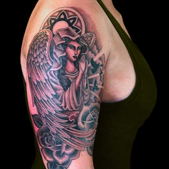 Great Angel Tattoo Designs For Women
