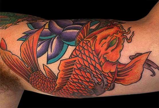 Koi Fish Tattoo Arm Designs