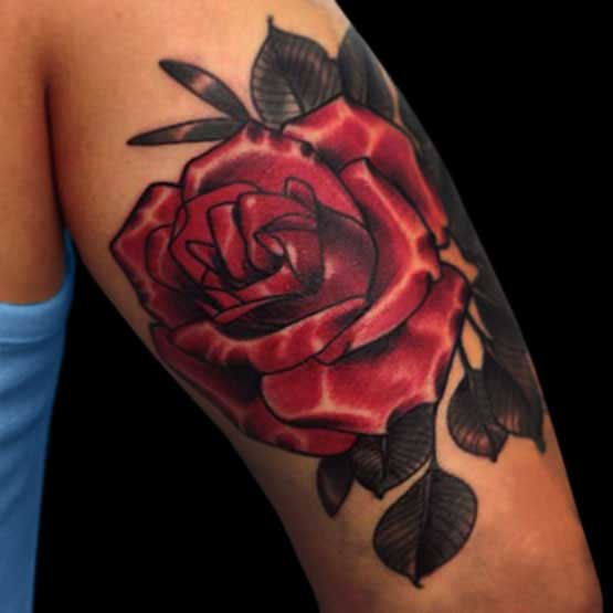 Rose Tattoo Designs For Hand
