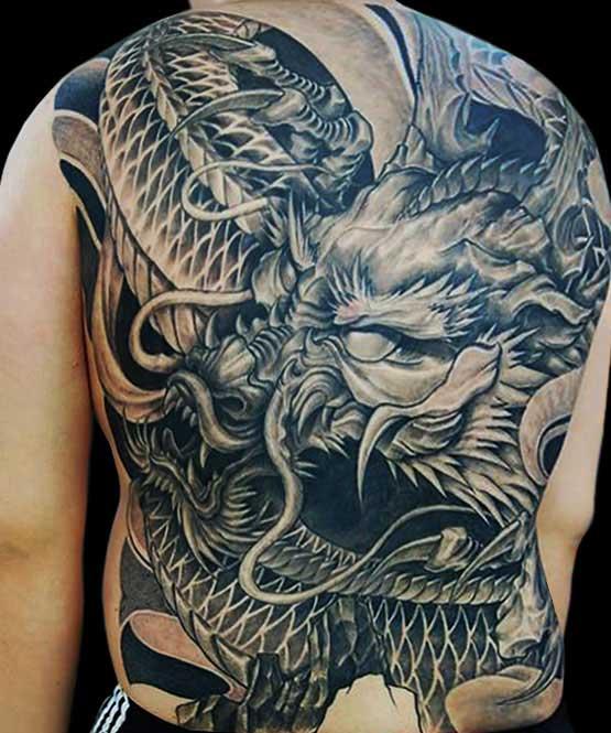 Japanese Dargon Tattoo Designs On Full Back