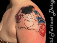 The Girl With Cartoon Tattoos Designs
