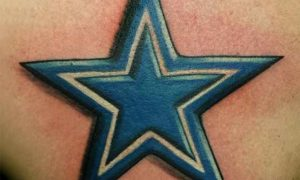 Blue Star Tattoo Designs On Chest