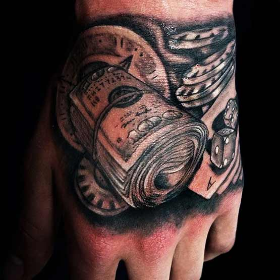 Money Tattoo Designs For Men