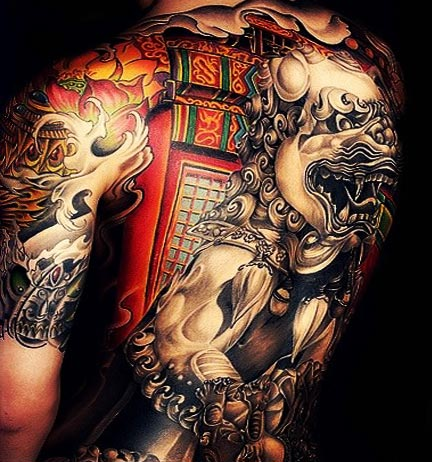 Full japanese tattoo in back
