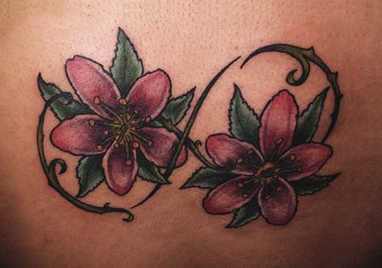 Infinity Tattoo Flower