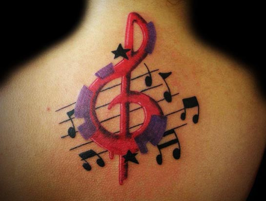 tattoo ideas for women about music