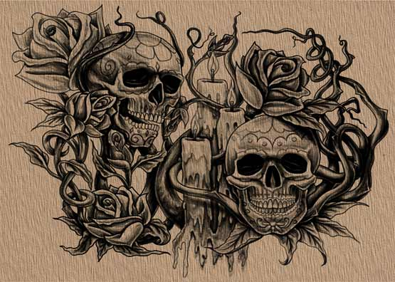Skull Design Your Own Tattoo