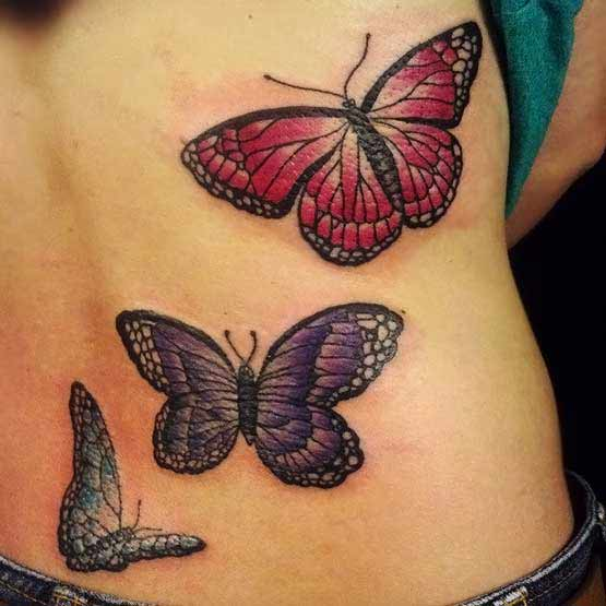 Butterfly On Back Tattoos
