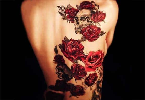 cool back flower tattoo ideas
