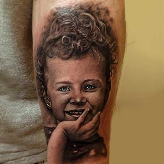 Daughters Portrait Tattoo