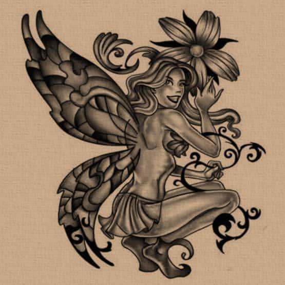 Free fairy tattoo designs