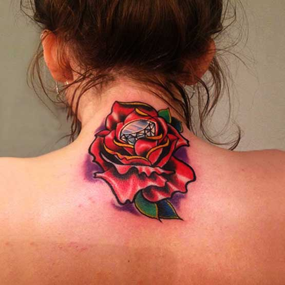Girl Rose Tattoo Designs