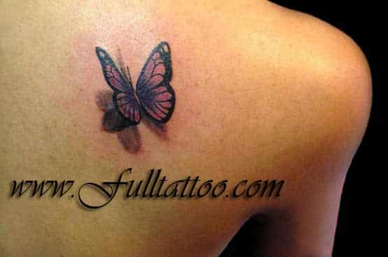 Little Buterfly As Tattoos