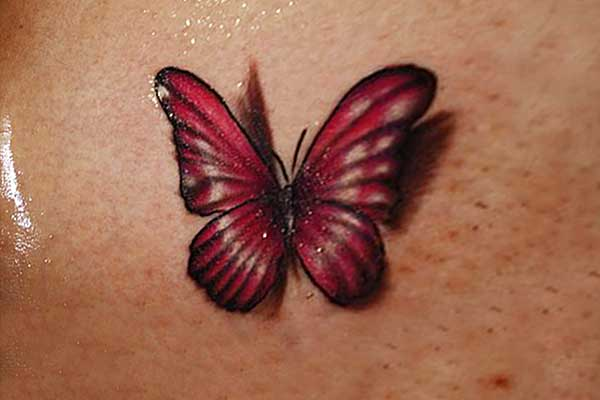 Red butterfly tattoo designs