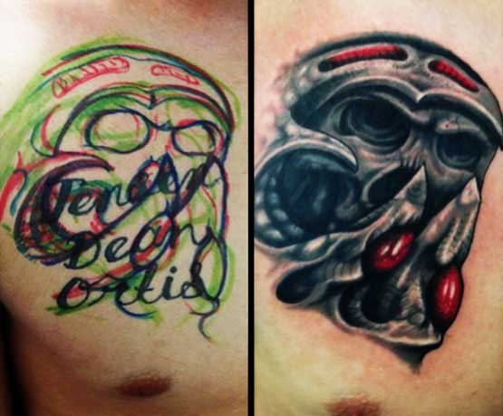 Cover Up Tattoo Before And After