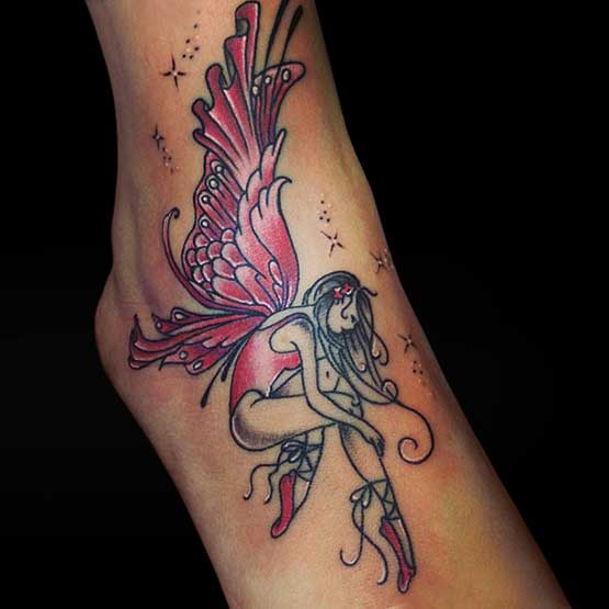 Fairy Tattoo Designs Ankle
