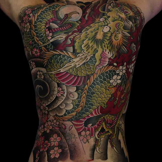 Full Back Chinese Tattoos
