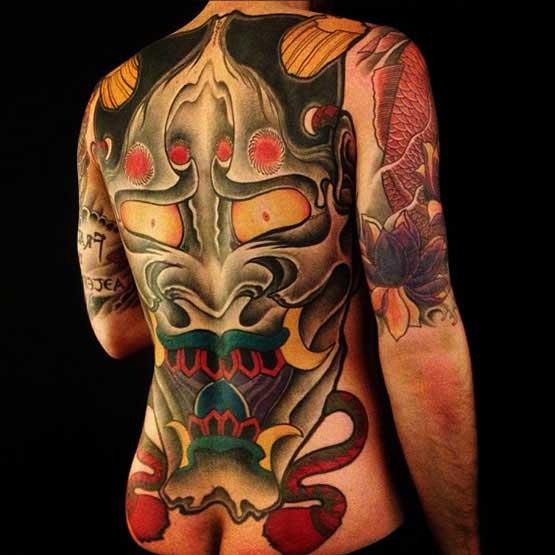 Full Back Piece Tattoo Designs