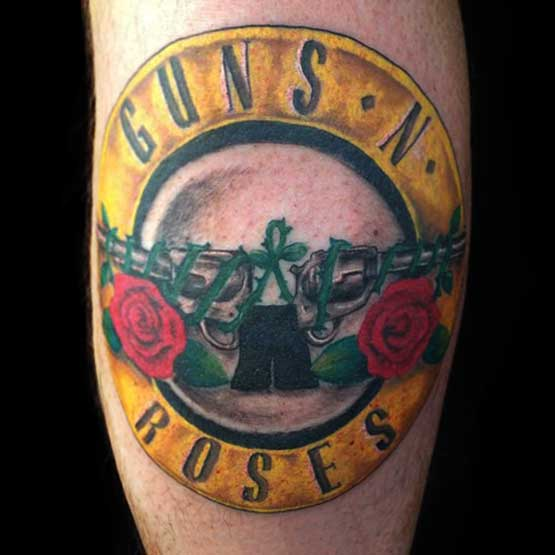 Gun N Roses Music Tattoo Designs