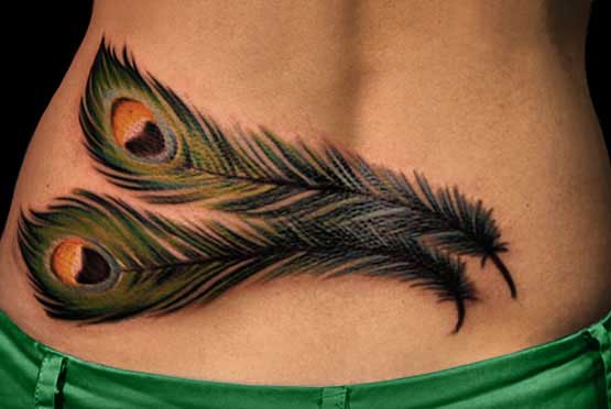 Peacock Tattoo Designs For Girls