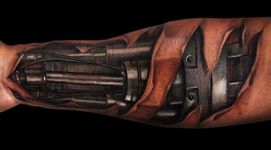 3D Biomechanical Tattoo Designs