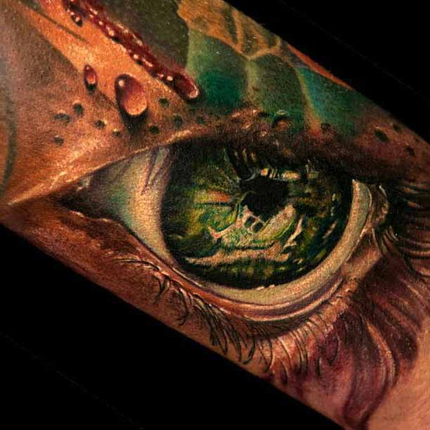 Amazing 3D Tattoo Designs On Sleeve