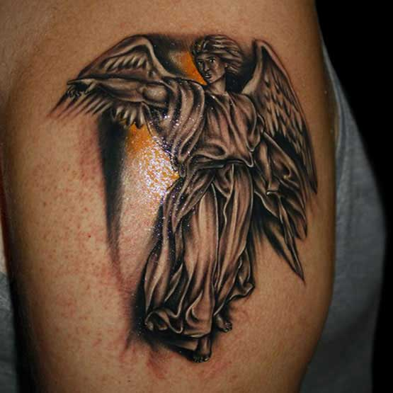 Angel Religious Tattoo Designs