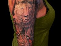 Awesome Lion Tattoo Designs For Girls
