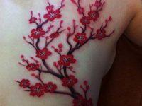 Beautiful Cherry Blossom Tattoos On Back