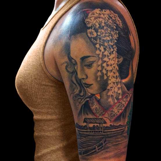 Best Japanese Geisha Tattoo Sleeve