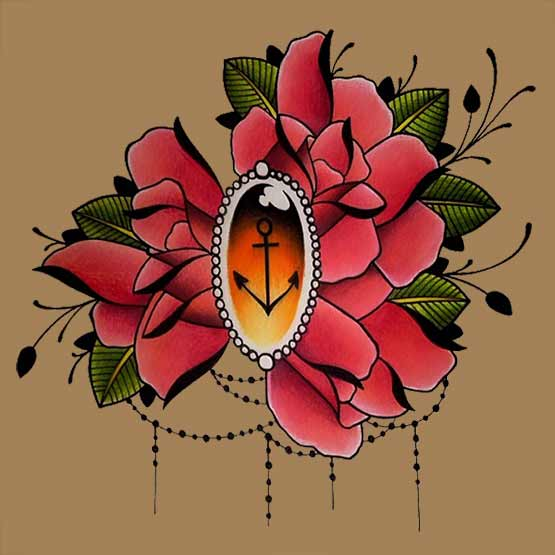 Create Own Rose Tattoo Design For Gils