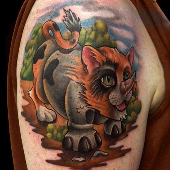 Modern Half Quarter Sleeve Tattoo Designs