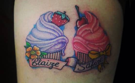 New School Tattoos Cup Cakes