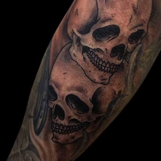 Skull On Sleeve Tattoo Designs