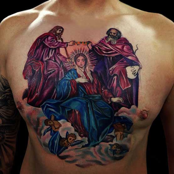 Religious tattoo designs and symbol full tattoo for Religious chest tattoos