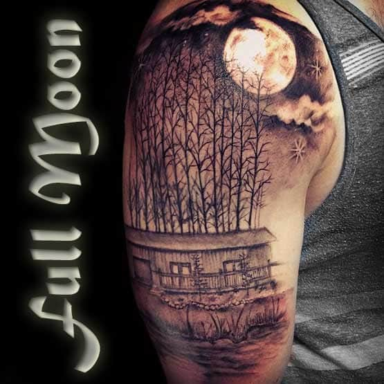 Full Moon Tattoo Designs And Meaning